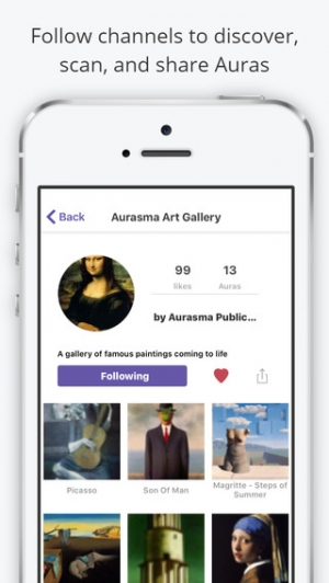 iPhone、iPadアプリ「Aurasma」のスクリーンショット 3枚目