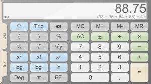 iPhone、iPadアプリ「電卓+」のスクリーンショット 1枚目