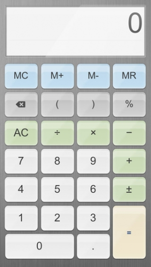 iPhone、iPadアプリ「電卓+」のスクリーンショット 4枚目