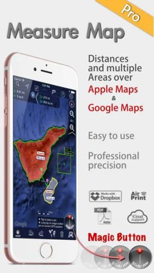 iPhone、iPadアプリ「地図計測プロ」のスクリーンショット 1枚目