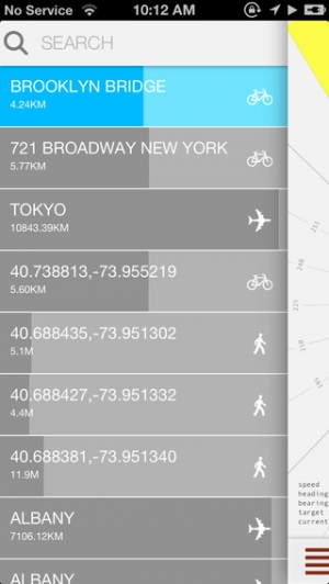 iPhone、iPadアプリ「Crowsflight」のスクリーンショット 4枚目