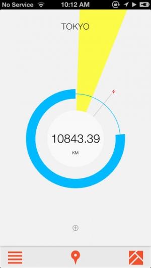 iPhone、iPadアプリ「Crowsflight」のスクリーンショット 2枚目