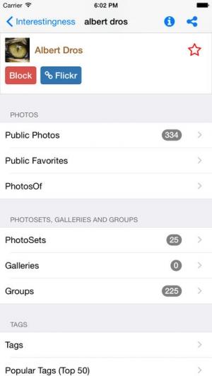 iPhone、iPadアプリ「Explorer for Flickr」のスクリーンショット 3枚目