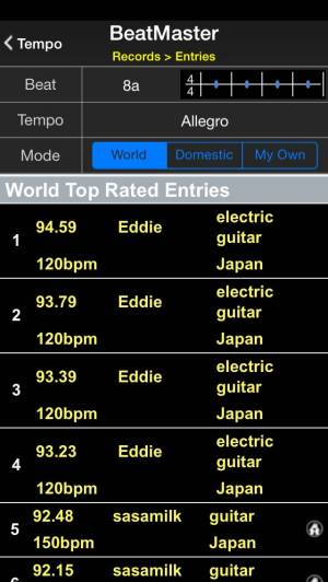 iPhone、iPadアプリ「BeatMaster Free Edition」のスクリーンショット 4枚目