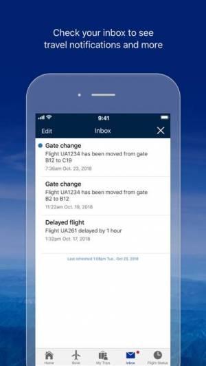 iPhone、iPadアプリ「United Airlines」のスクリーンショット 5枚目