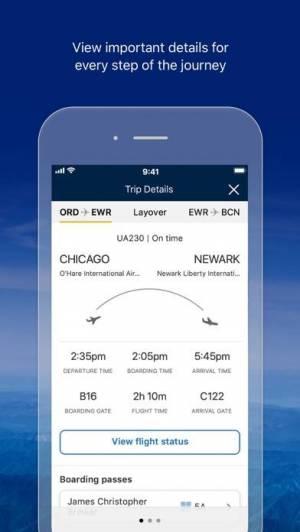 iPhone、iPadアプリ「United Airlines」のスクリーンショット 2枚目