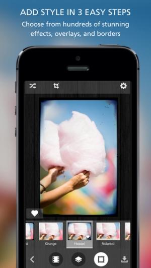 iPhone、iPadアプリ「Pixlr-o-matic」のスクリーンショット 1枚目