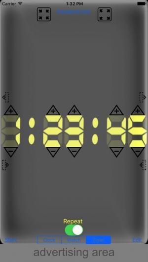 iPhone、iPadアプリ「7-Segment Time Display」のスクリーンショット 2枚目