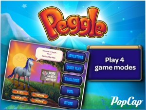 iPhone、iPadアプリ「Peggle HD」のスクリーンショット 1枚目