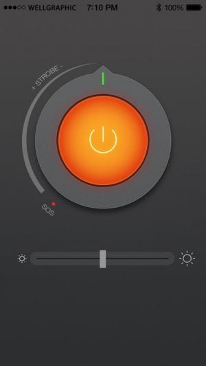 iPhone、iPadアプリ「懐中電灯 ◎」のスクリーンショット 1枚目