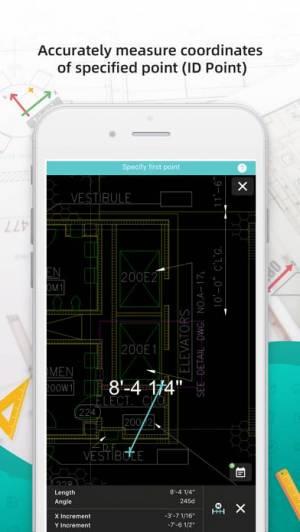 iPhone、iPadアプリ「DWG FastView-CAD図面を設計・閲覧するツール」のスクリーンショット 4枚目