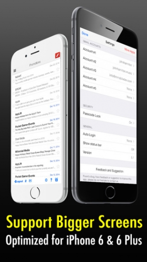 iPhone、iPadアプリ「Safe Mail for Gmail : secure and easy email mobile app with Touch ID to access multiple Gmail and Google Apps inbox accounts」のスクリーンショット 3枚目
