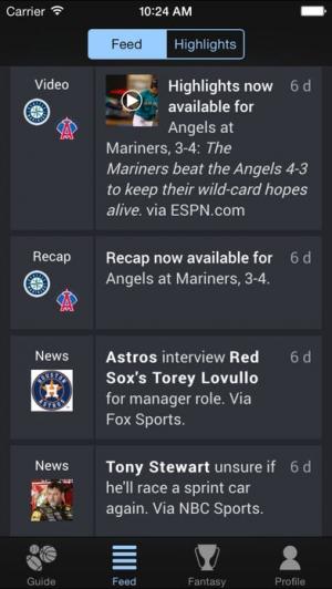 iPhone、iPadアプリ「Thuuz Sports」のスクリーンショット 2枚目
