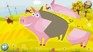 iPhone、iPadアプリ「農場 : 子供のためのゲーム : パズルとカラー」のスクリーンショット 1枚目