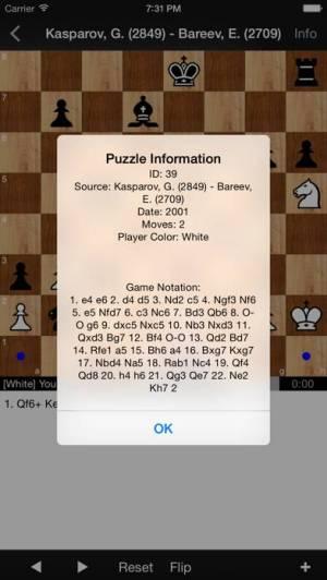 iPhone、iPadアプリ「Chess Puzzles: World Champions」のスクリーンショット 3枚目