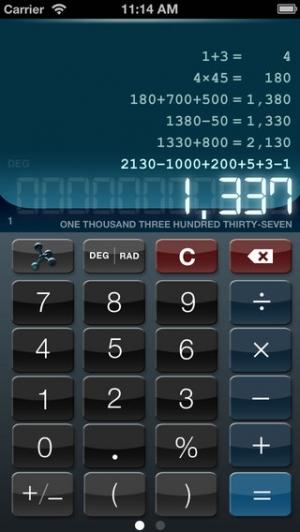 iPhone、iPadアプリ「電卓 HD+ Pro」のスクリーンショット 1枚目