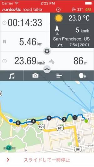 iPhone、iPadアプリ「Runtastic ロードバイク記録サイコンアプリ」のスクリーンショット 1枚目