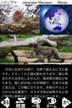 iPhone、iPadアプリ「動く!動物図鑑 mini FREE」のスクリーンショット 1枚目