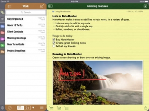 iPhone、iPadアプリ「NoteMaster Lite for iPad - Amazing notes synced with Dropbox or Google Drive」のスクリーンショット 2枚目