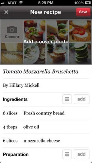 iPhone、iPadアプリ「Foodily Recipe Sharing with Friends」のスクリーンショット 2枚目