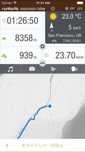 iPhone、iPadアプリ「Runtastic マウンテンバイク記録サイコンアプリ」のスクリーンショット 1枚目