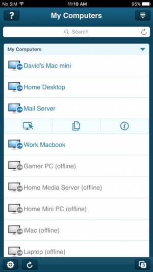 iPhone、iPadアプリ「LogMeIn」のスクリーンショット 1枚目