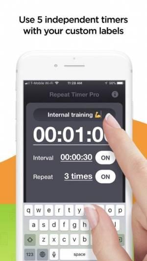 iPhone、iPadアプリ「Repeat Timer Pro」のスクリーンショット 3枚目