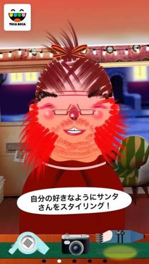 iPhone、iPadアプリ「Toca Hair Salon - Christmas」のスクリーンショット 3枚目