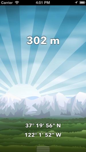 iPhone、iPadアプリ「トラベル・アルティメーター・ライト フリー  GPS高度計&高度マップ - コンパス - バロメーター」のスクリーンショット 3枚目
