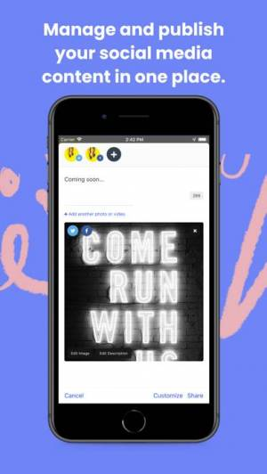 iPhone、iPadアプリ「Buffer Publish: Social Media」のスクリーンショット 1枚目