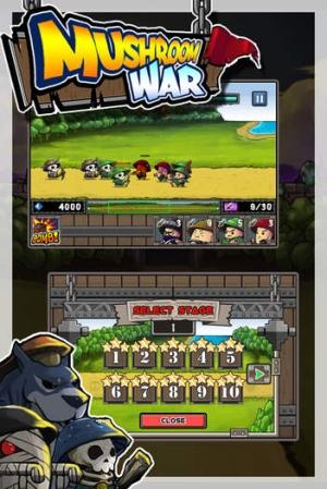 iPhone、iPadアプリ「キノコの戦争」のスクリーンショット 2枚目