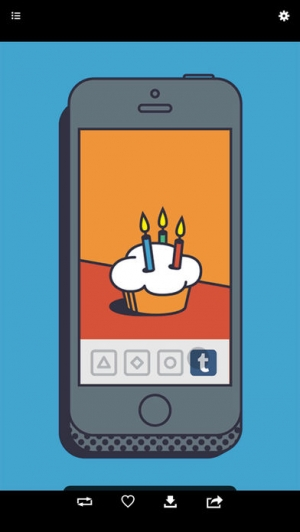 iPhone、iPadアプリ「tview for Tumblr」のスクリーンショット 1枚目
