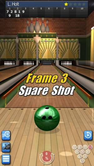 iPhone、iPadアプリ「My Bowling 3D」のスクリーンショット 2枚目