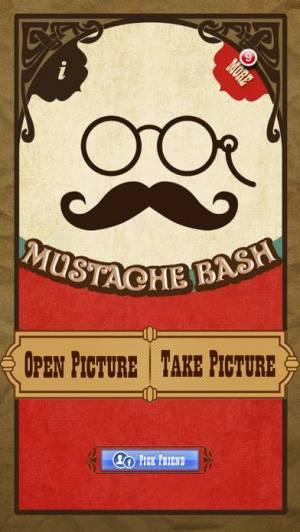 iPhone、iPadアプリ「Mustache Bash Free」のスクリーンショット 1枚目