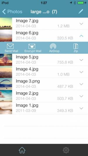 iPhone、iPadアプリ「WinZip: #1書類圧縮/圧縮解除ツール」のスクリーンショット 2枚目