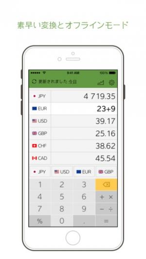 iPhone、iPadアプリ「Smart Coin:通貨変換機」のスクリーンショット 1枚目