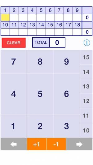 iPhone、iPadアプリ「ゴルフ簡単電卓 - GolfSimpleCalc」のスクリーンショット 1枚目