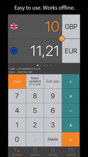 iPhone、iPadアプリ「Currency Converter Plus」のスクリーンショット 1枚目