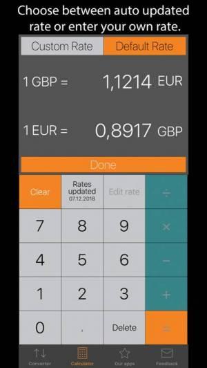 iPhone、iPadアプリ「Currency Converter Plus」のスクリーンショット 3枚目