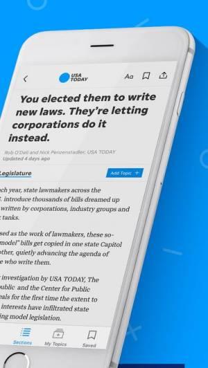 iPhone、iPadアプリ「USA TODAY」のスクリーンショット 3枚目