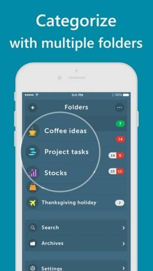 iPhone、iPadアプリ「Orderly - Simple to-do lists」のスクリーンショット 1枚目