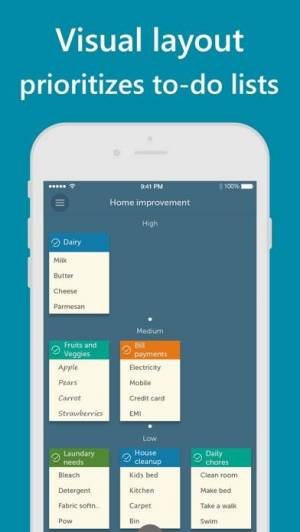 iPhone、iPadアプリ「Orderly - Simple to-do lists」のスクリーンショット 2枚目