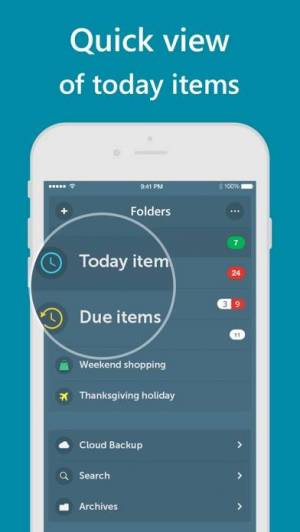 iPhone、iPadアプリ「Orderly - Simple to-do lists」のスクリーンショット 3枚目