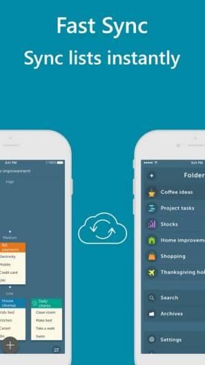 iPhone、iPadアプリ「Orderly - Simple to-do lists」のスクリーンショット 4枚目