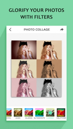 iPhone、iPadアプリ「Photo Collage – Frame Editor and Perfect Camera」のスクリーンショット 5枚目