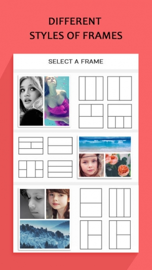 iPhone、iPadアプリ「Photo Collage – Frame Editor and Perfect Camera」のスクリーンショット 1枚目