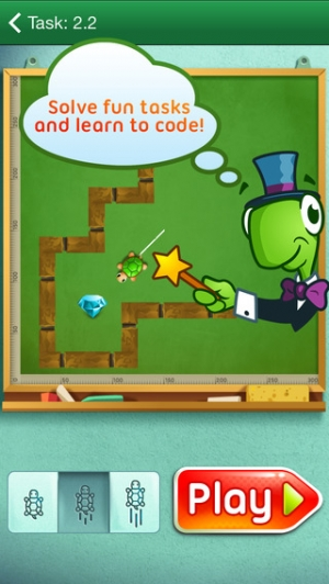 iPhone、iPadアプリ「Move The Turtle. Programming For Kids」のスクリーンショット 1枚目