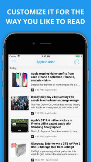 iPhone、iPadアプリ「Newsify: RSS Reader」のスクリーンショット 2枚目