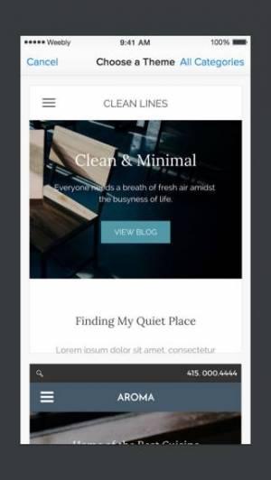 iPhone、iPadアプリ「Weebly x Square」のスクリーンショット 5枚目