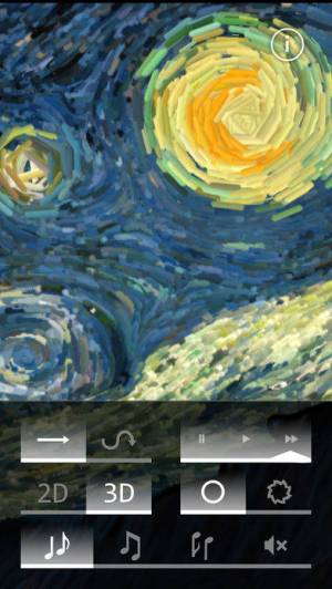 iPhone、iPadアプリ「Starry Night Interactive Animation」のスクリーンショット 4枚目